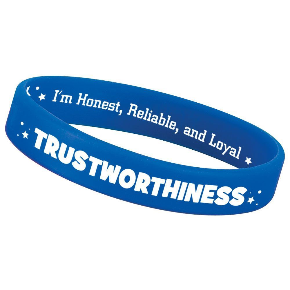 Trustworthiness 2-Sided Silicone Character Bracelets - Pack of 10