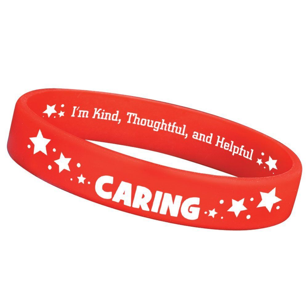 Caring 2-Sided Silicone Bracelets - Pack of 10