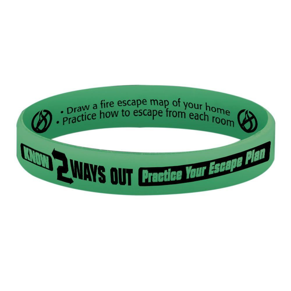 Know 2 Ways Out Glow-In-The-Dark Silicone Awareness Bracelet - 25 Per Pack