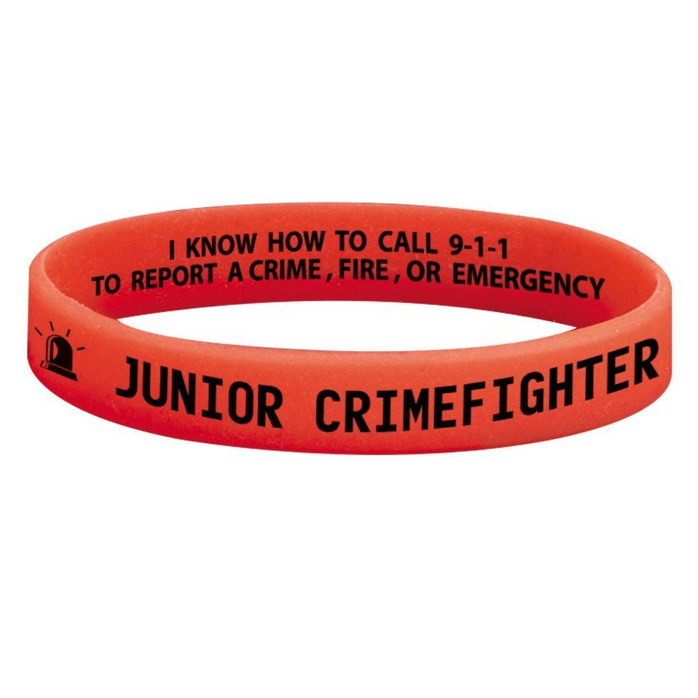 Junior Crimefighter 2-Sided Glow-In-The-Dark Silicone Awareness Bracelet