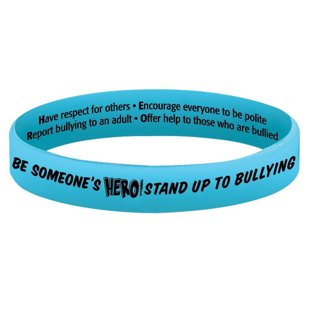 Be Someone's Hero! Stand Up To Bullying Two-Sided Silicone Bracelet