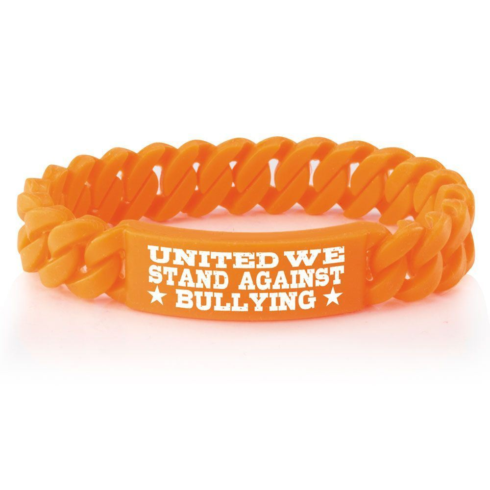 s bullying silicone charity alert bracelet loading itm awareness beat stop image adult wristband is