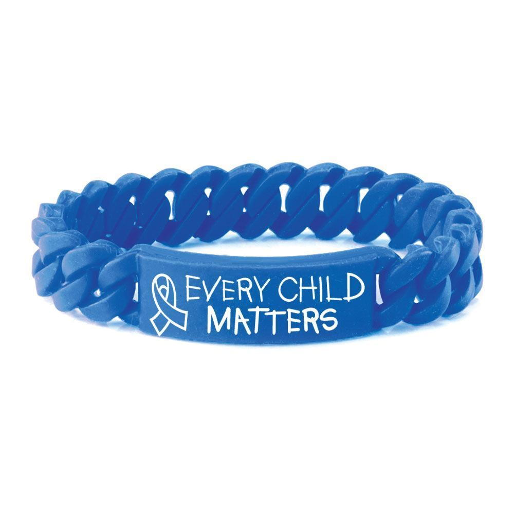 Every Child Matters Silicone Link Bracelet - Pack of 10
