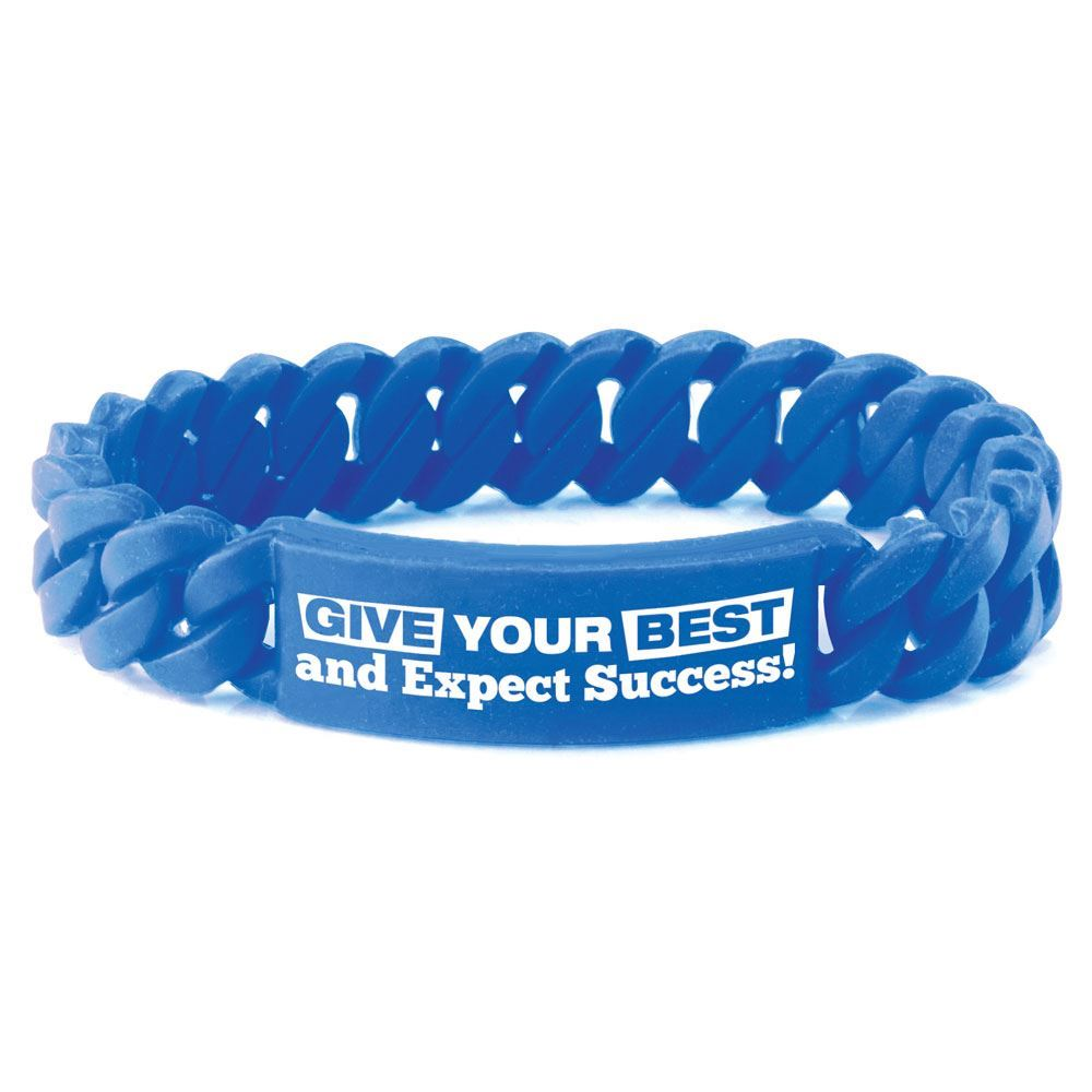 Give Your Best And Expect Success! Chain Link Bracelets - Pack of 10