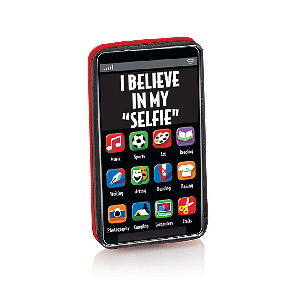 """I Believe In My """"Selfie"""" Cell Phone Erasers - Pack of 25"""