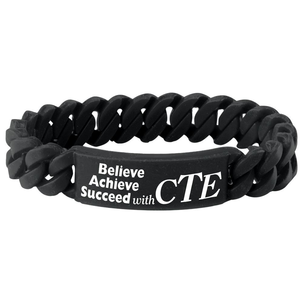 Believe Achieve Succeed With CTE Link Bracelet