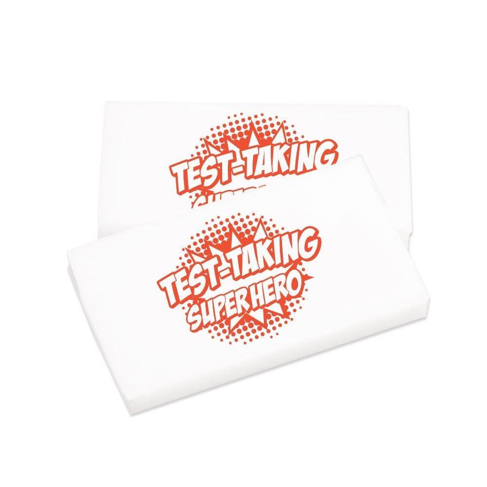Test-Taking Superhero White Erasers - Pack of 25
