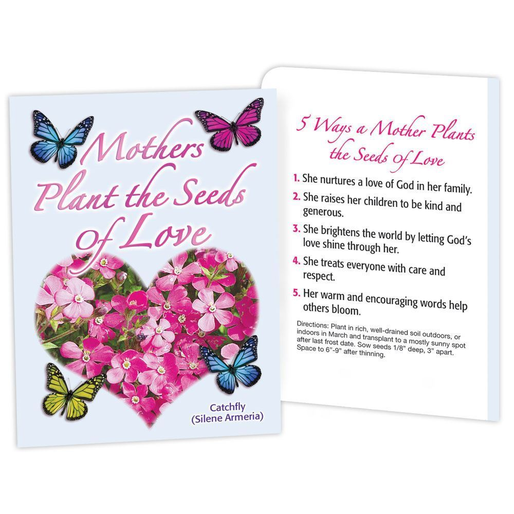Mothers Plant The Seeds Of Love Seed Packet | Positive Promotions