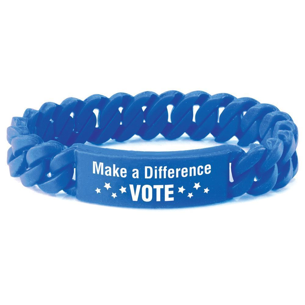 Make A Difference Vote Silicone Link Bracelet Positive
