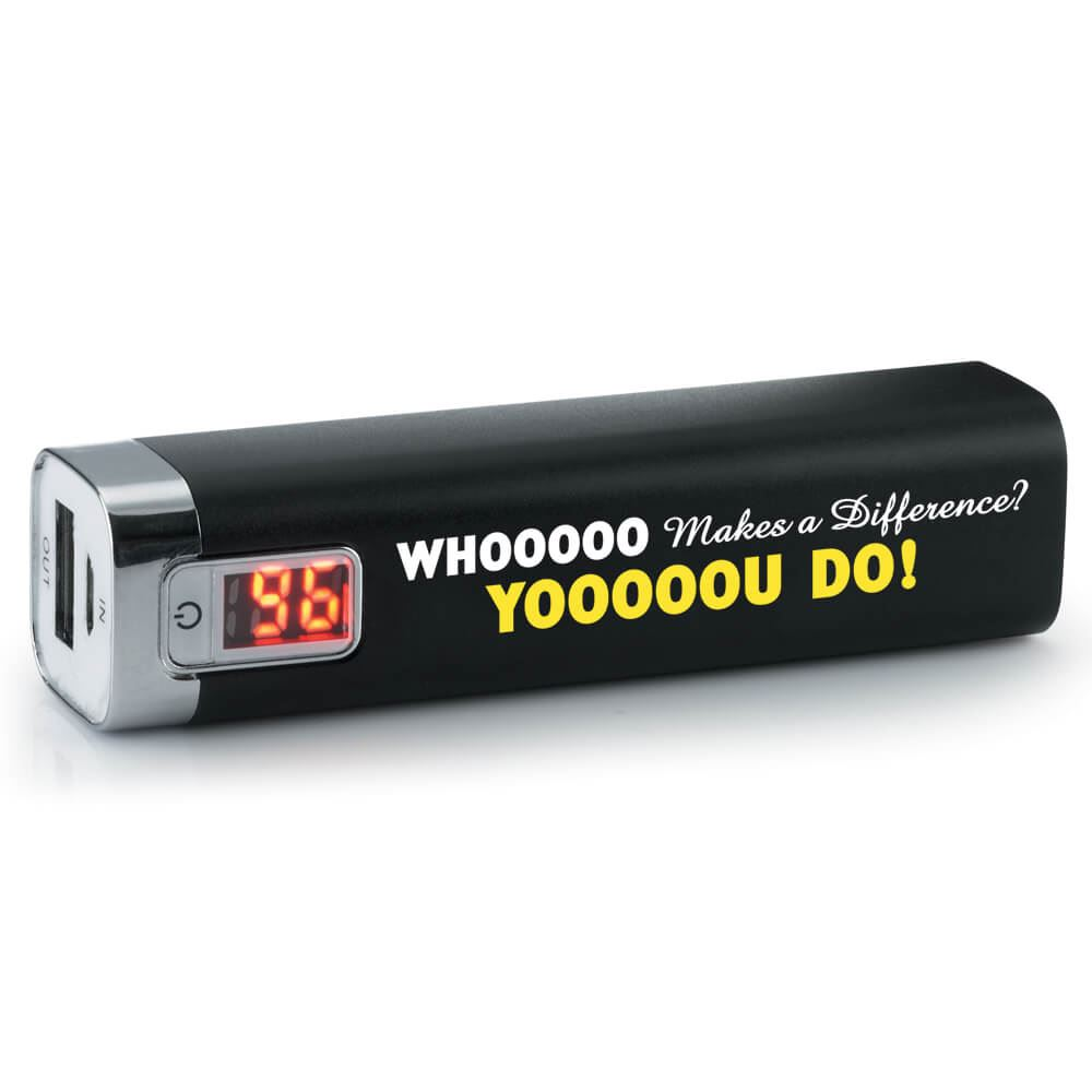 Whooooo Makes A Difference? Yooooou Do! - Metal Power Bank With Digital Power Display