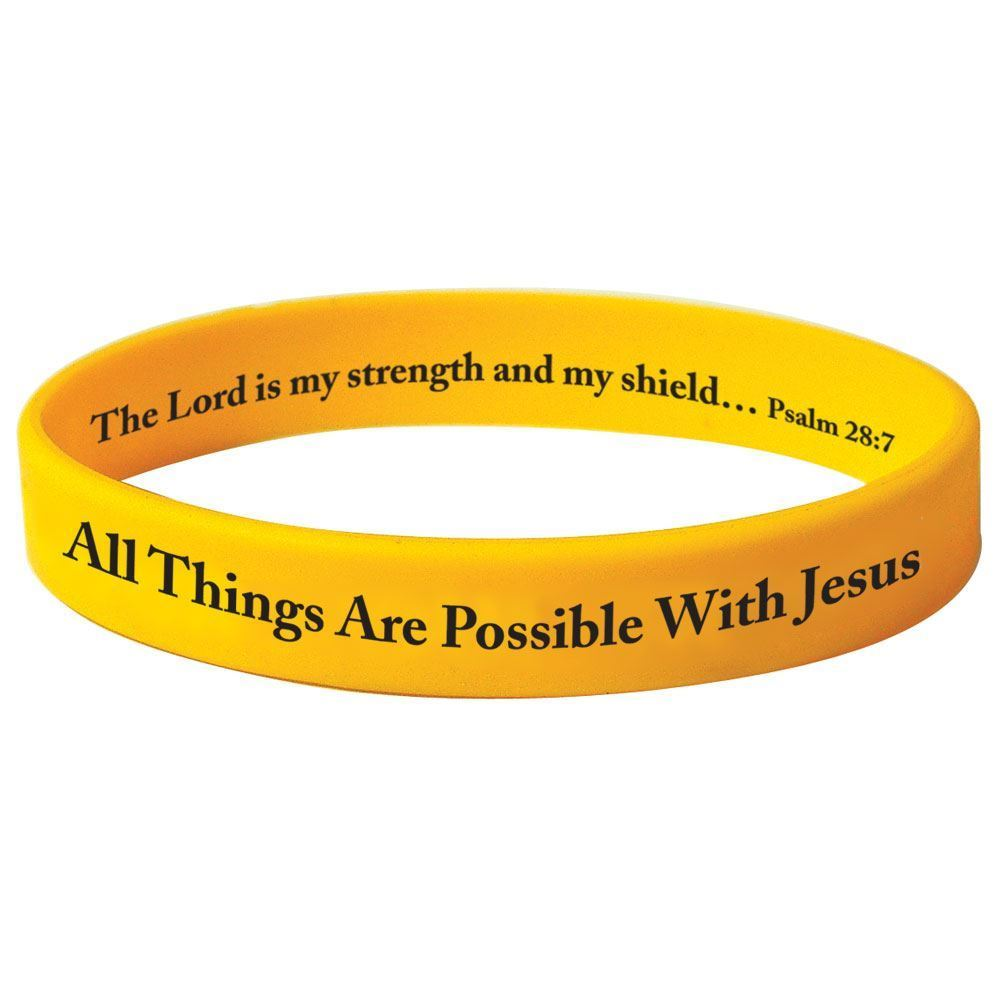 All Things Are Possible With Jesus Silicone Bracelet