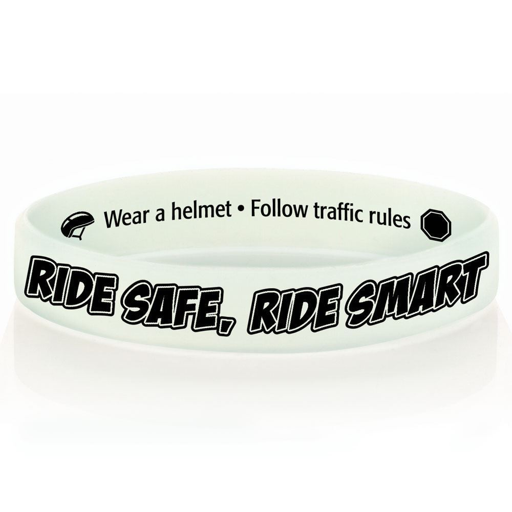 Ride Safe, Ride Smart Color-Changing Silicone Bracelet