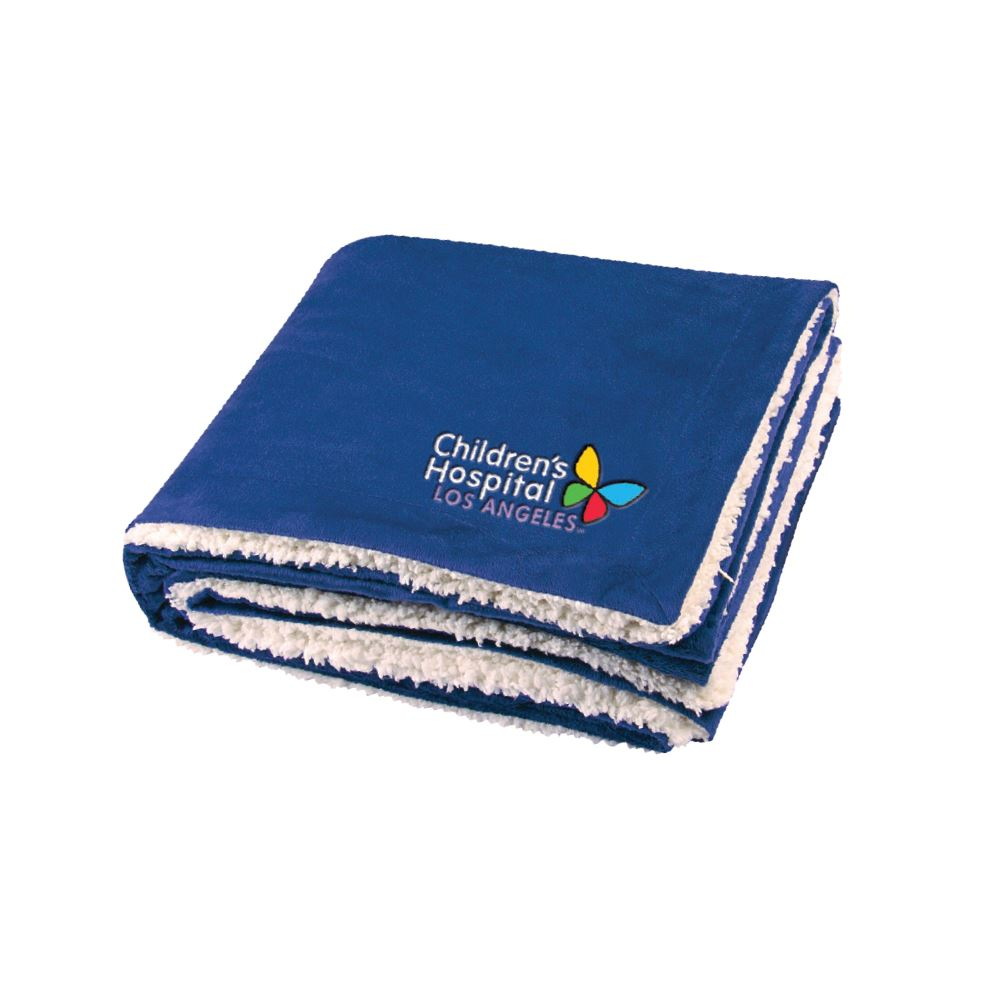 Microfleece Sherpa Blanket - Embroidered Personalization Available
