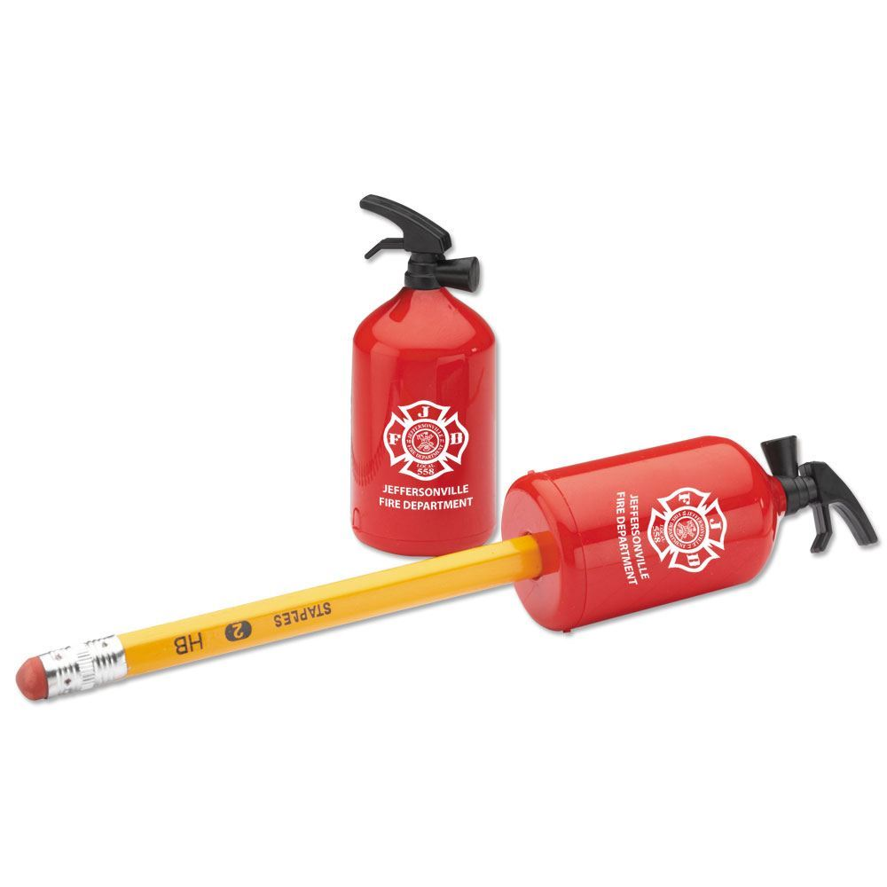 Fire Extinguisher-Shaped Pencil Sharpener - Personalization Available