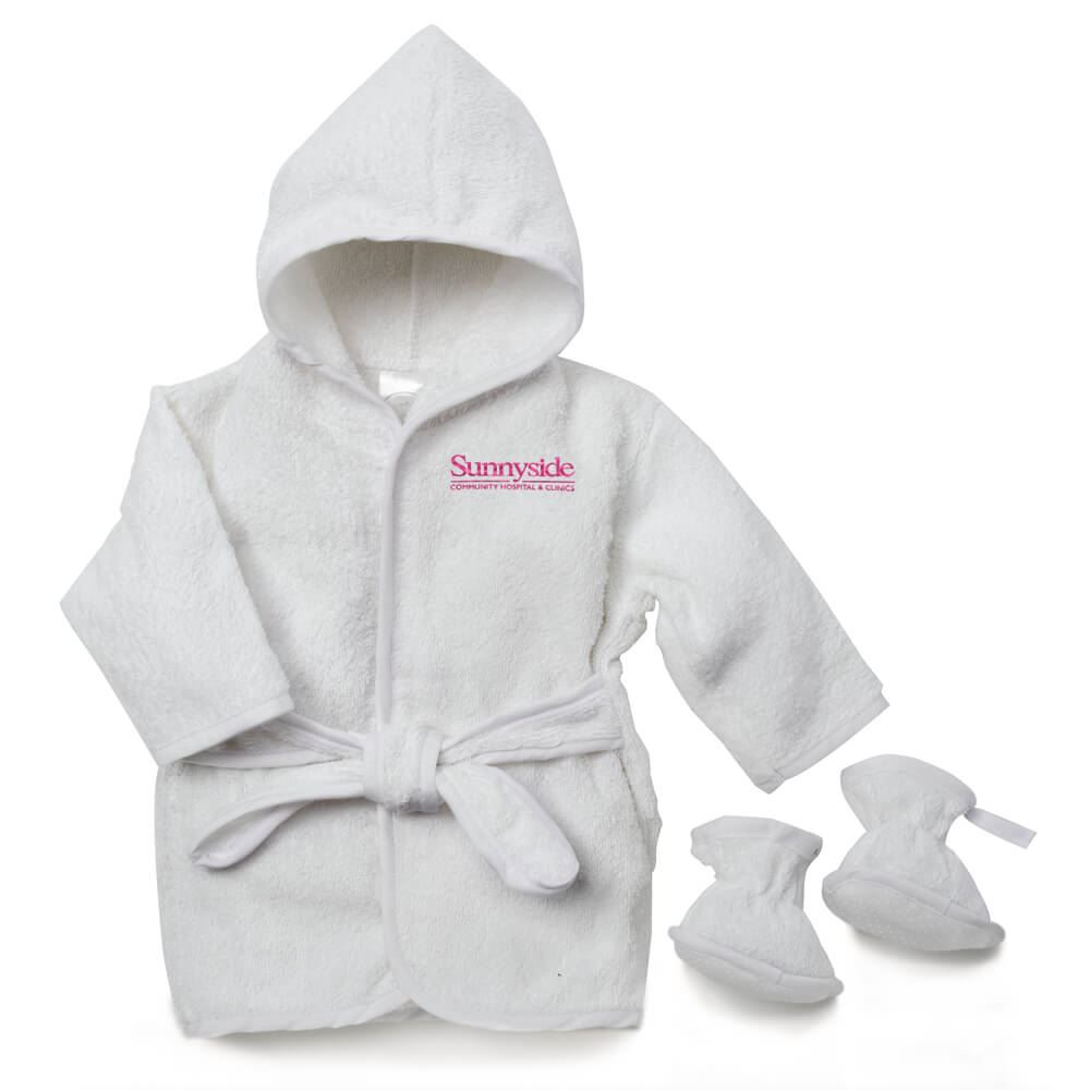 Infant Terry Hooded Bath Robe - Personalization Available