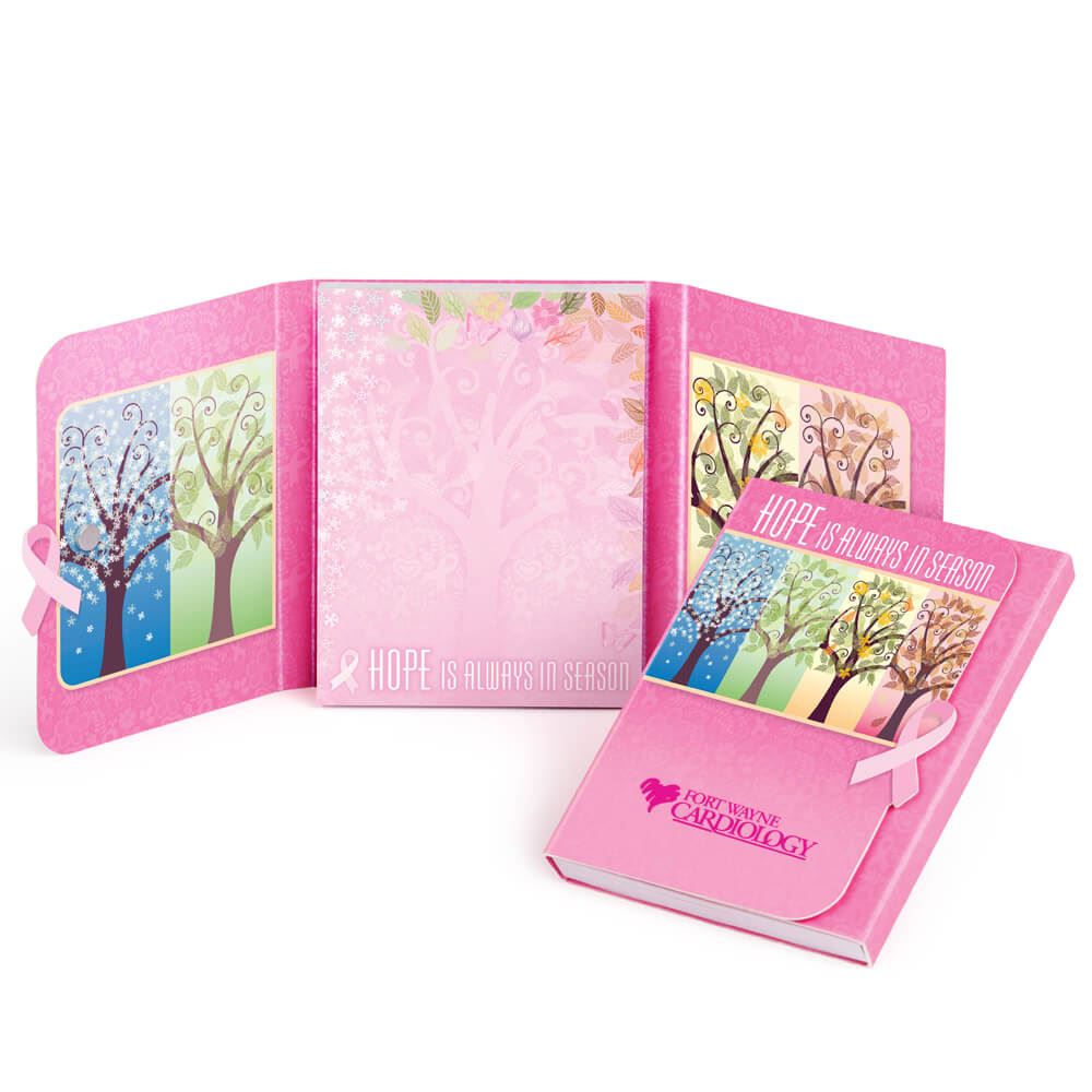 Hope Is Always In Season Sticky Notepad With Magnetic Closure Plus Personalization