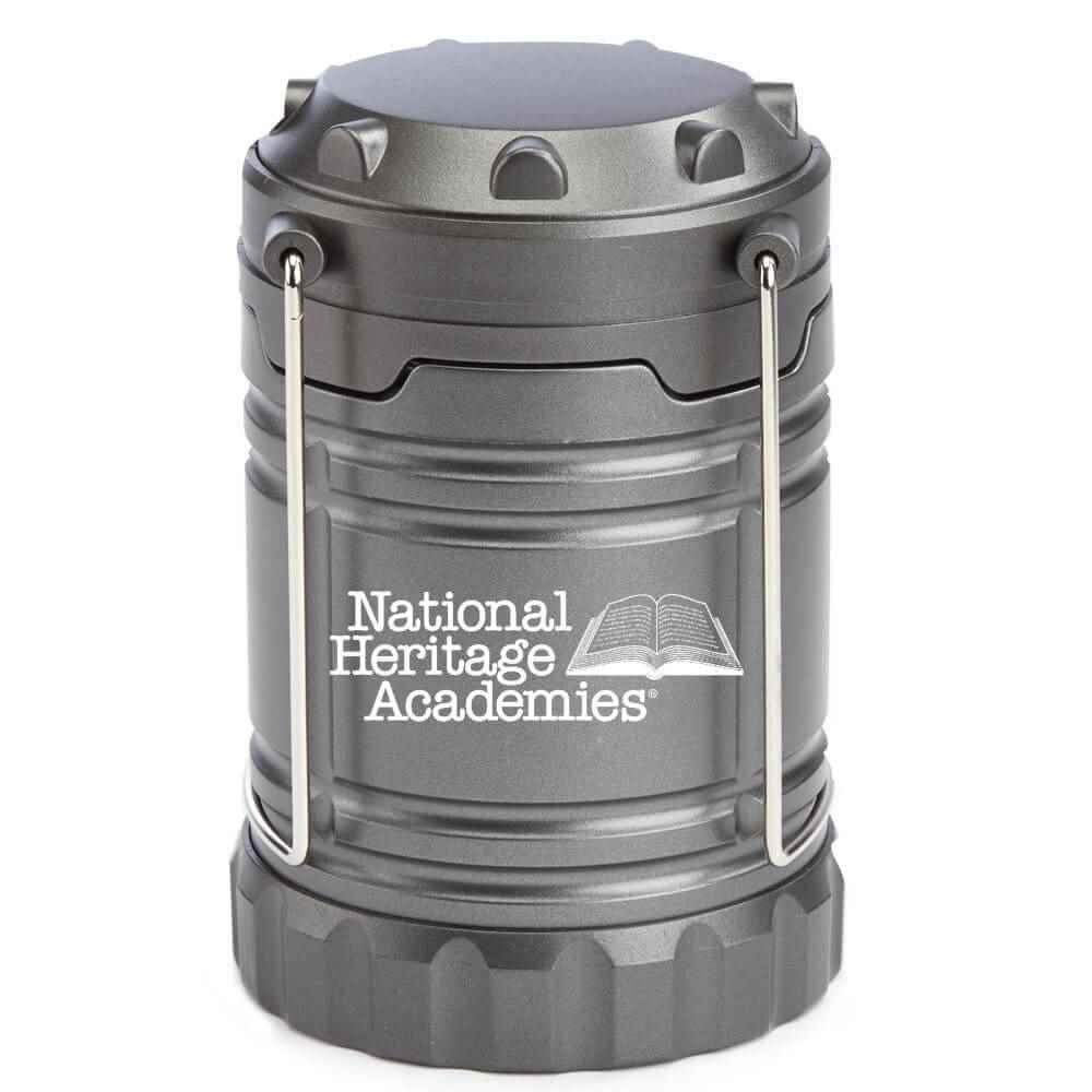 Titanium Indoor/Outdoor Retractable LED Lantern with Magnetic Base - Personalization Available