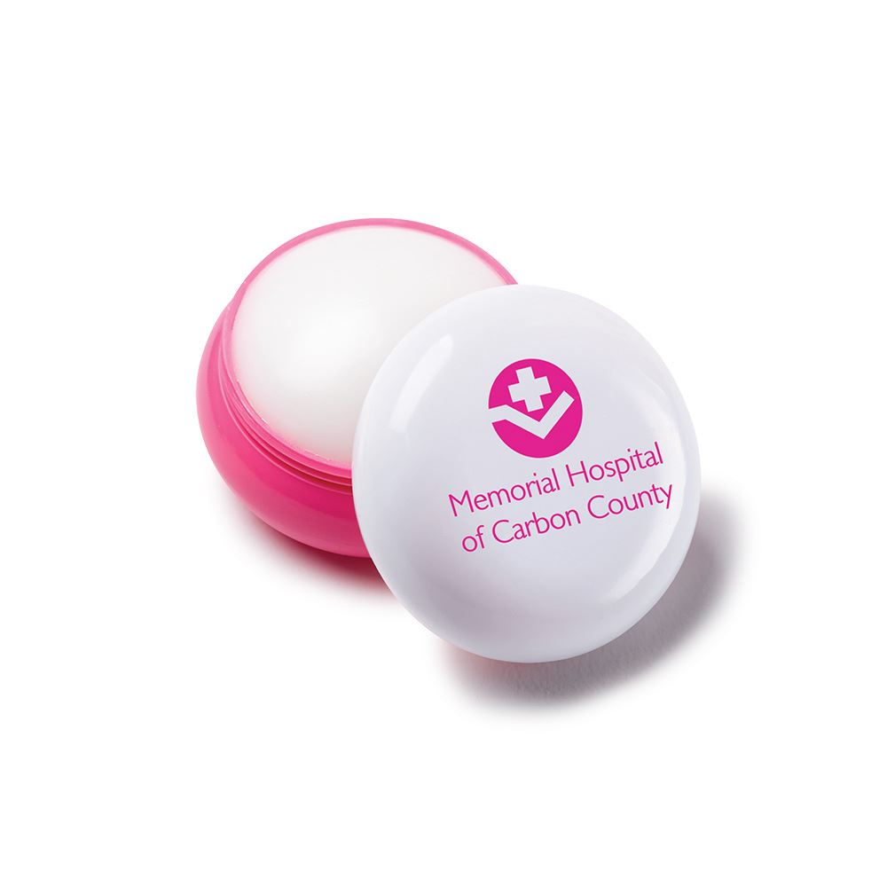 Pink Round Lip Balm - Personalization Available