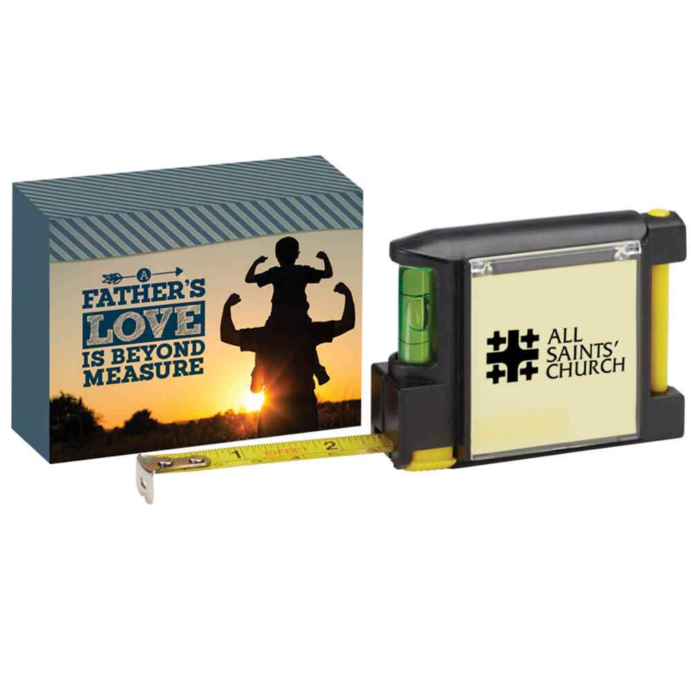 Deluxe Tape Measure With A Father's Love Is Beyond Measure Gift Box - Personalization Available