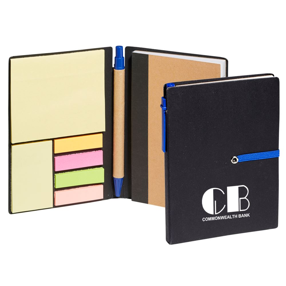 Jotter With Sticky Notes And Pen - Personalization Available