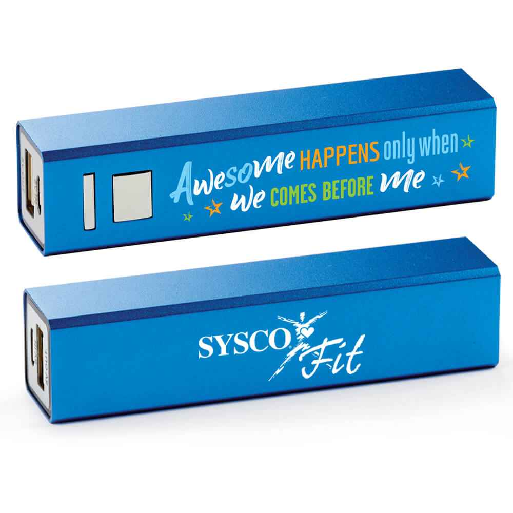 Awesome Only Happens When We Comes Before Me Blue Metal Power Bank Plus Personalization