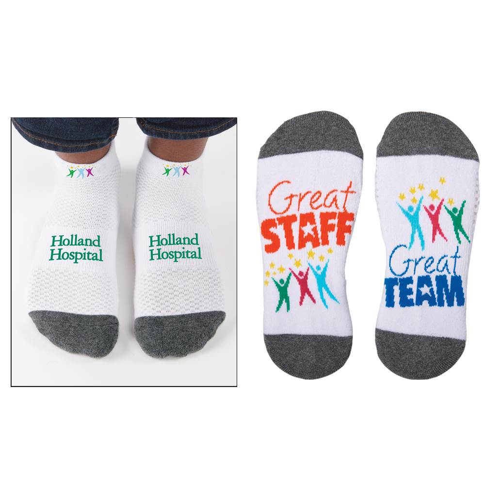 Great Staff, Great Team Personalized Positivity Socks