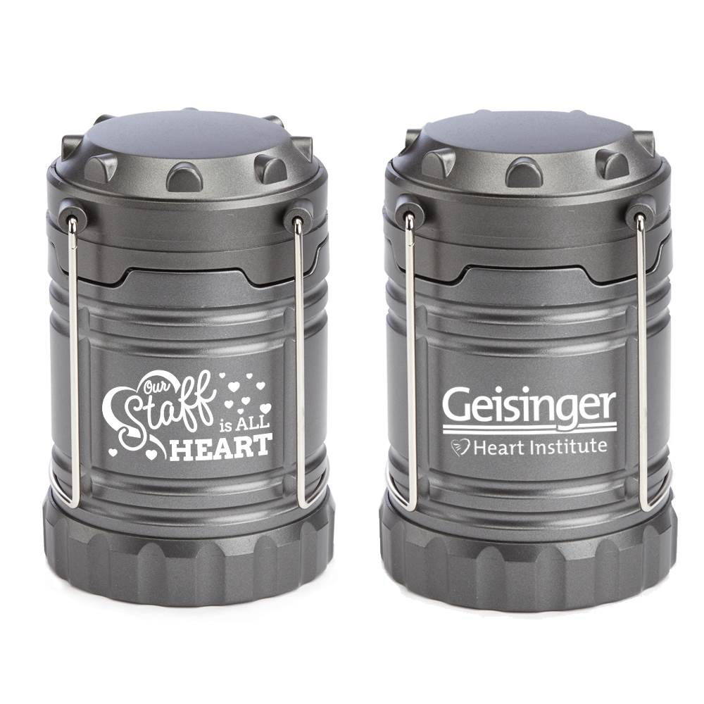 Our Staff Is All Heart Positivity Indoor/Outdoor LED Retractable Lantern With Magnetic Base Plus Personalization
