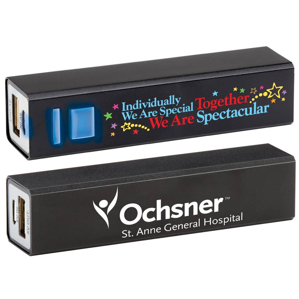 Individually We Are Special, Together We Are Spectacular Positivity Metal Power Bank with Personalization