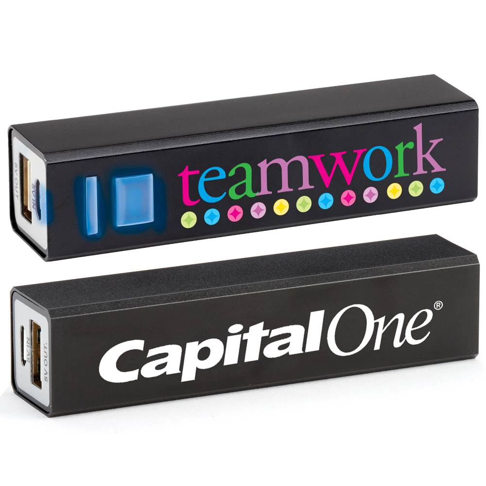 Teamwork Positivity Metal Power Bank With Personalization
