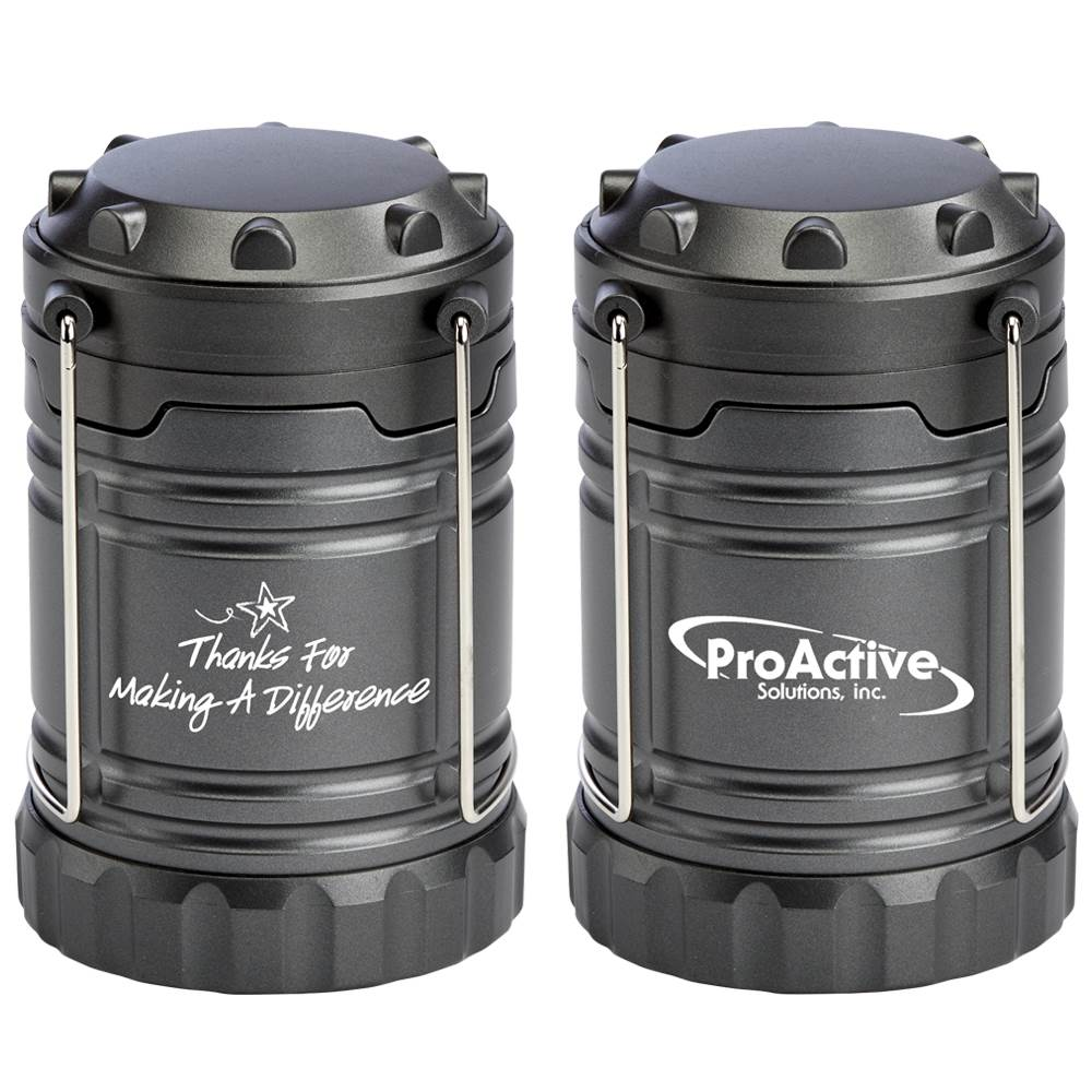 Positivity Titanium Indoor/Outdoor LED Retractable Lantern With Magnetic Base Plus Personalization