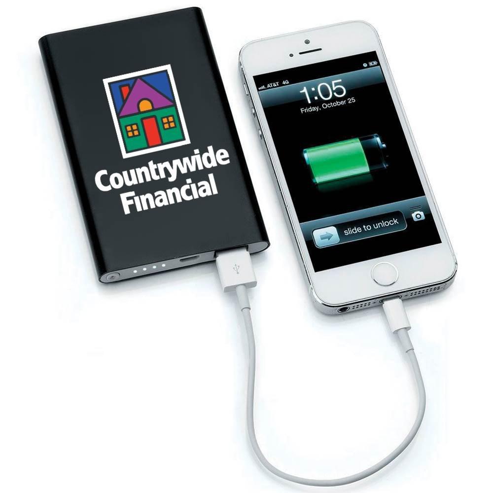 UL® Slim Metal Phone & Tablet Power Bank - 4000 mAh - Full-Color Personalization Available
