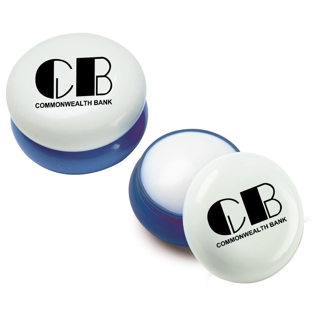 Blue Round Lip Balm - Personalization Available