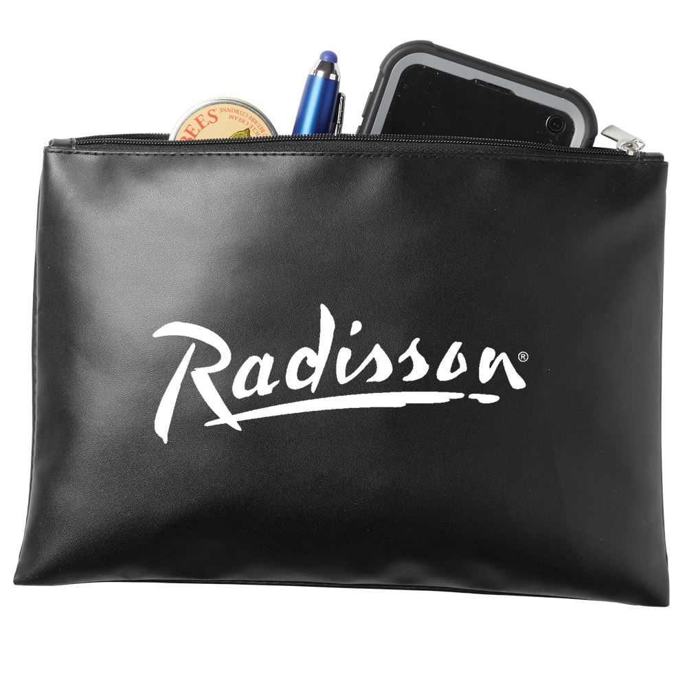 Zippered Vinyl Pouch - Personalization Available