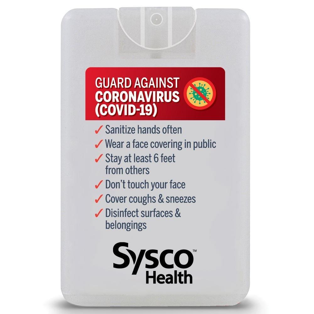 Guard Against Coronavirus Credit Card Style Antibacterial Hand Sanitizer Spray