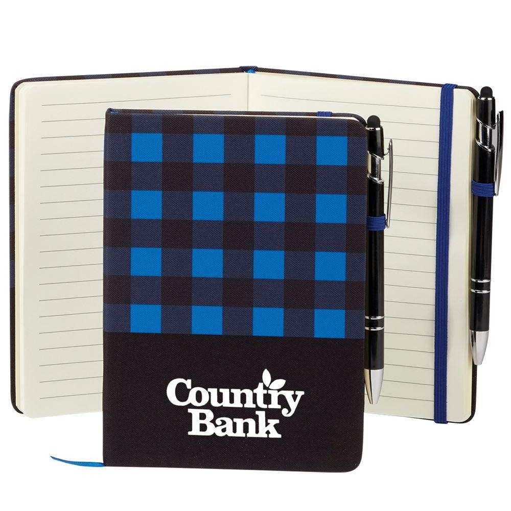 Buffalo Plaid Journal & Stylus Pen - Personalization Available