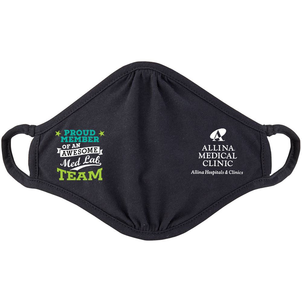 Proud Member Med Lab Team 2-Ply 100% Cotton Mask - Personalization Available