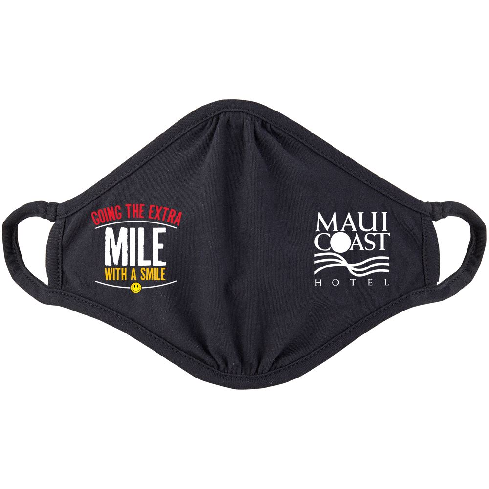 Going The Extra Mile With A Smile 2-Ply 100% Cotton Mask - Personalization Available