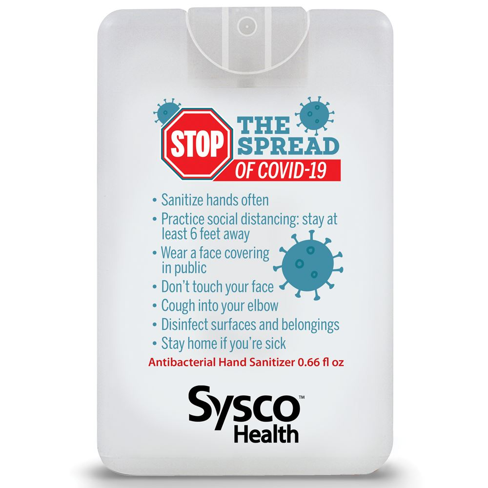Stop The Spread Credit Card Style Antibacterial Hand Sanitizer Spray - Personalization Available