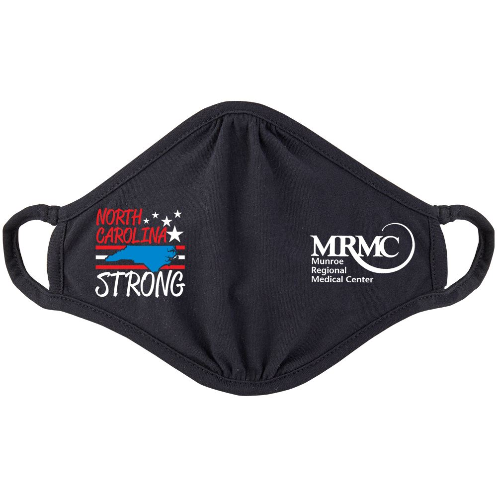 North Carolina Strong 2-Ply 100% Cotton Mask - Personalization Available