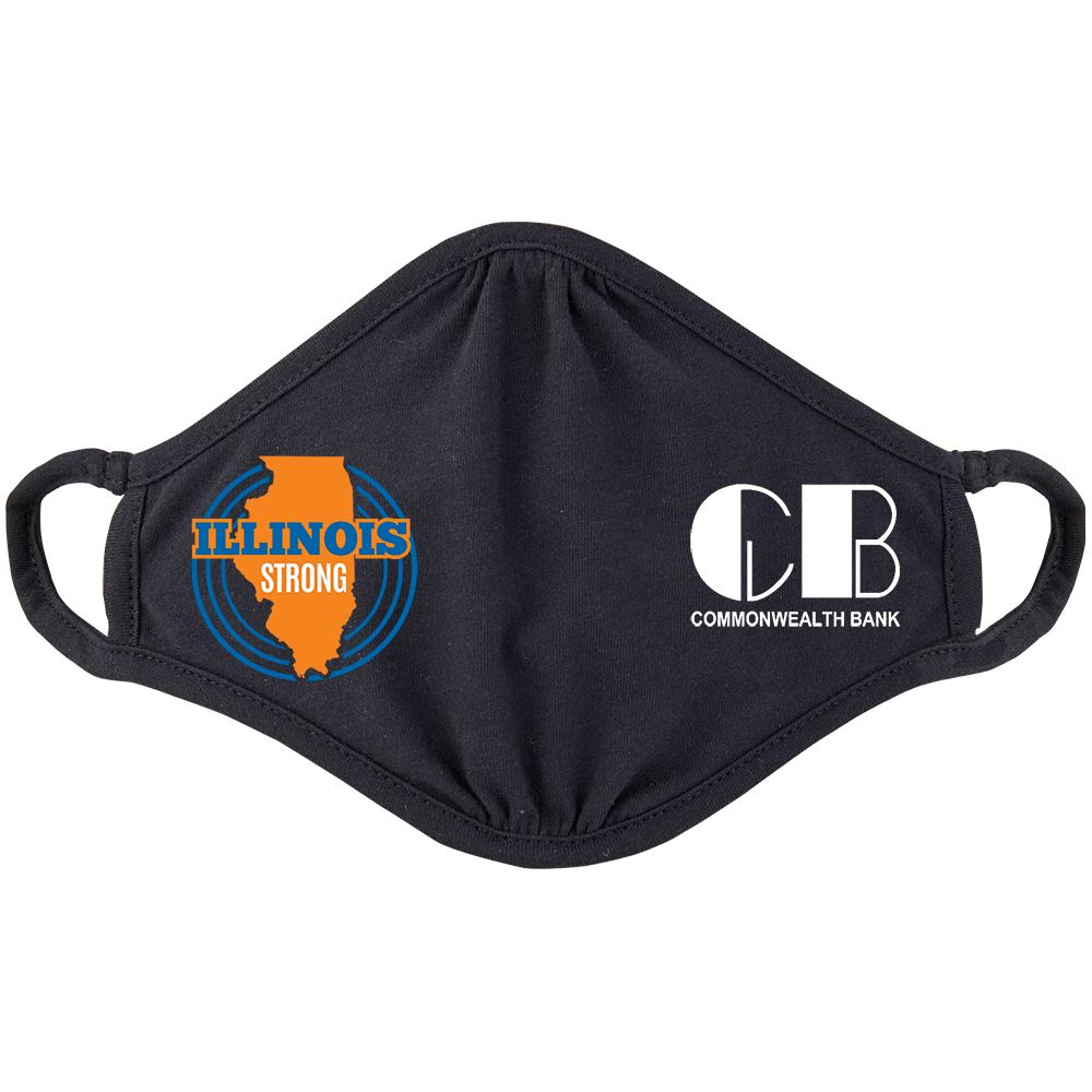 Illinois Strong 2-Ply 100% Cotton Mask - Personalization Available