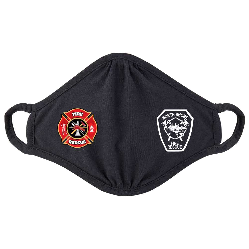 Fire Rescue Maltese Cross 2-Ply 100% Cotton Mask - Personalization Available