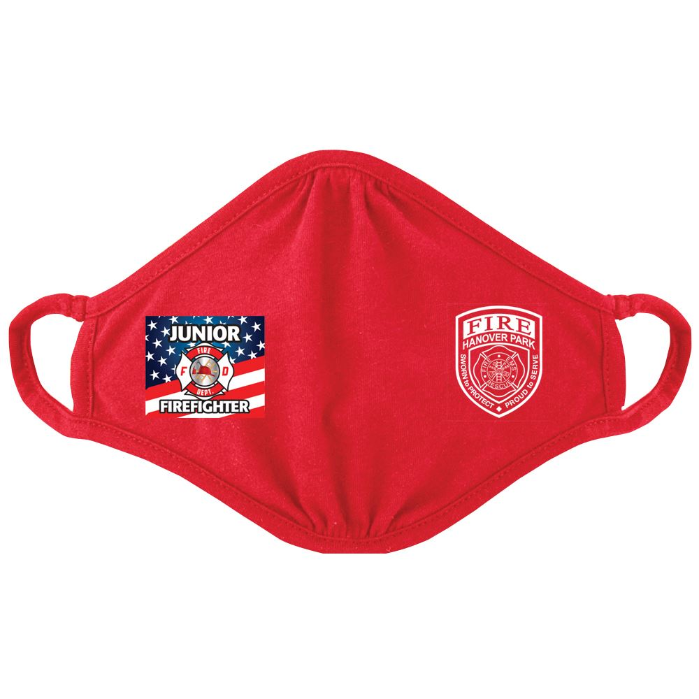 Junior Firefighter�2-Ply Blended Youth Face Mask - Personalization Available