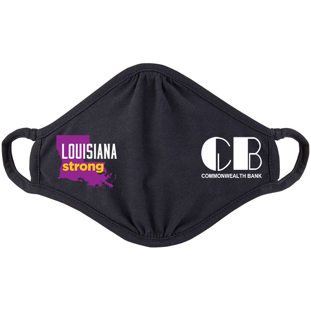 Louisiana Strong 2-Ply 100% Cotton Mask - Personalization Available