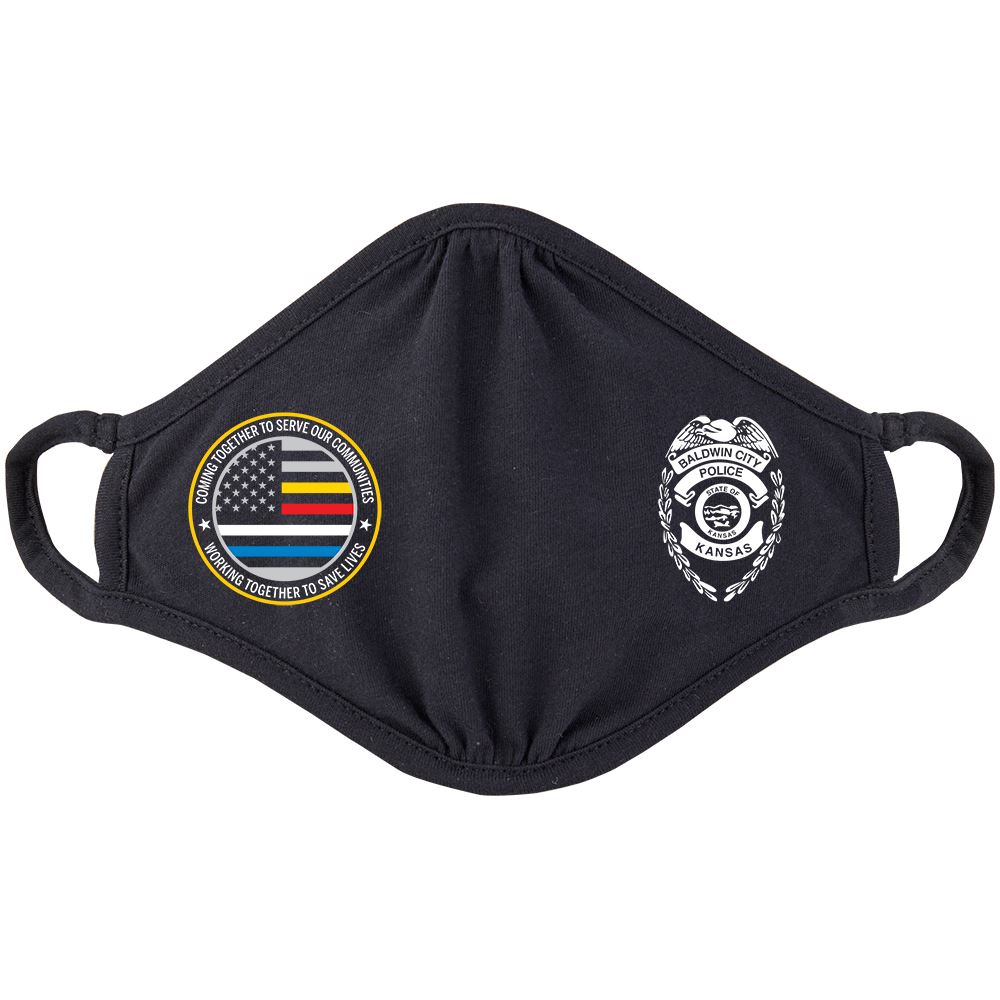 First Responders Strong 2-Ply 100% Cotton Mask - Personalization Available
