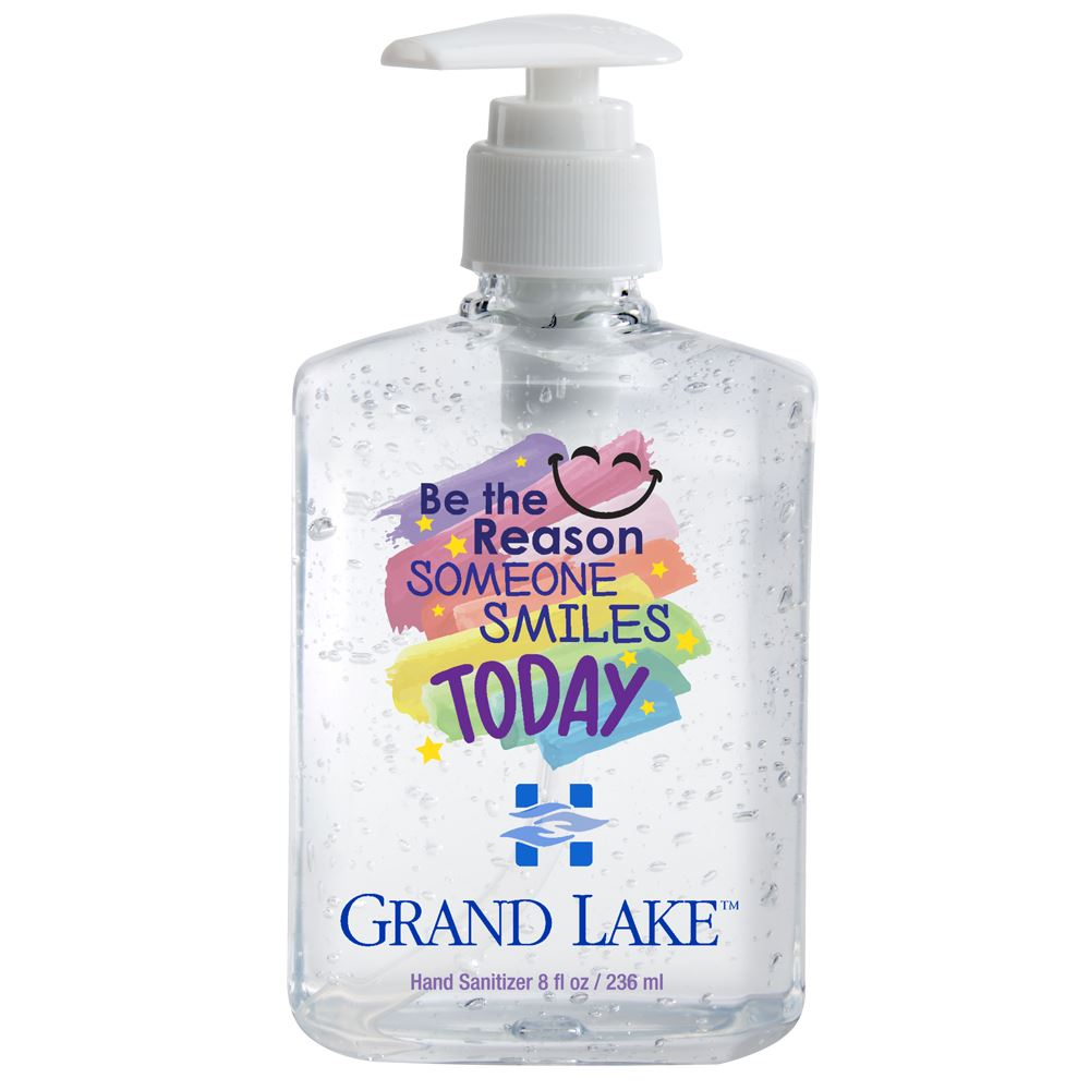 Be The Reason Someone Smiles Today 8-Oz. Sanitizer Gel Pump - Personalization Available