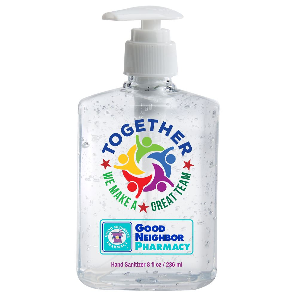 Together We Make A Great Team 8-Oz. Sanitizer Gel Pump - Personalization Available