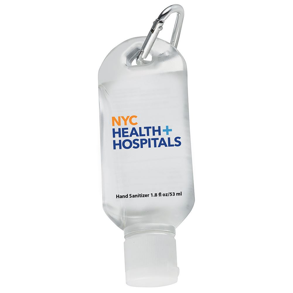 1.8 Oz. Hand Sanitizer With Carabiner Clip - Full-Color Personalization Available