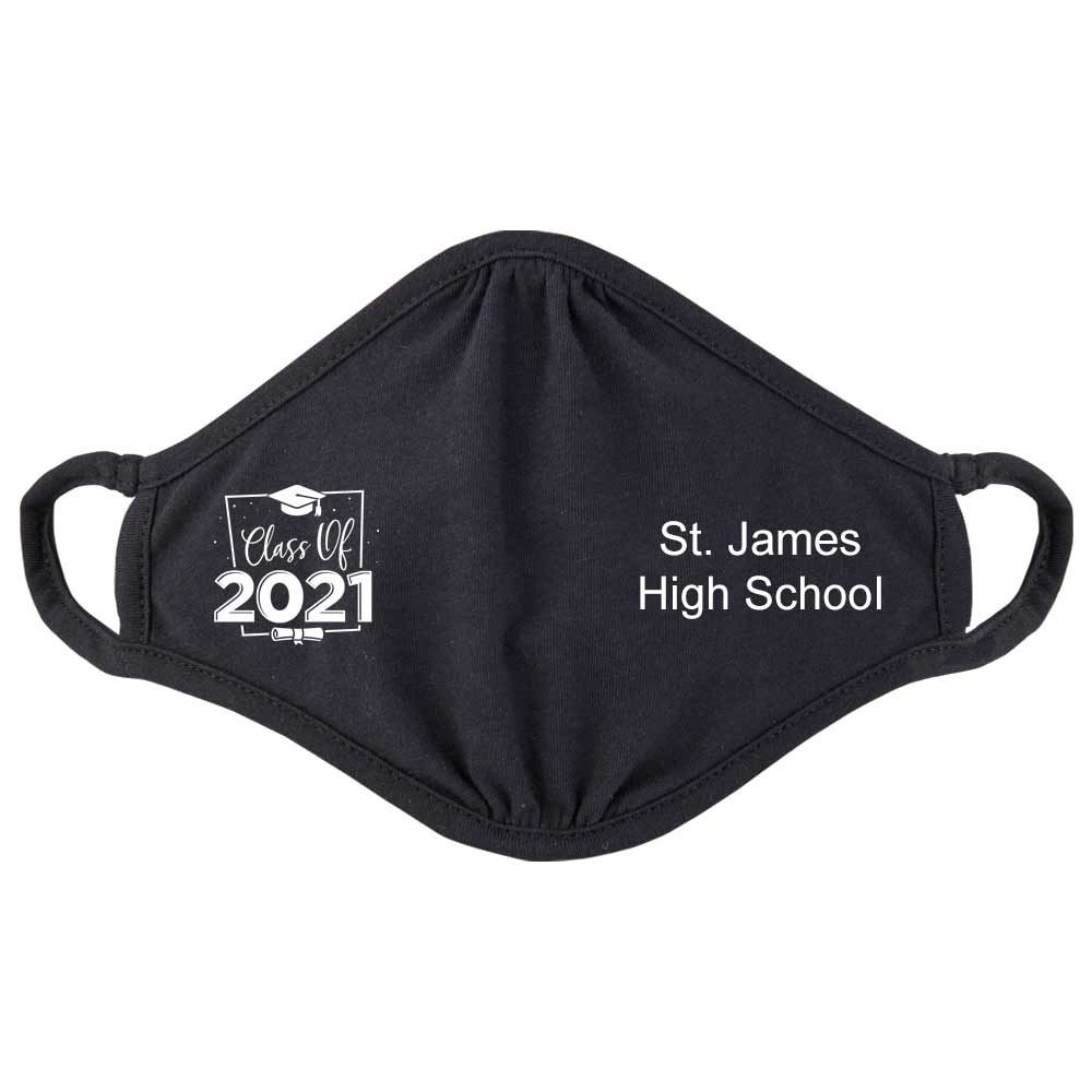 Class Of 2021 2-Ply 100% Cotton Mask