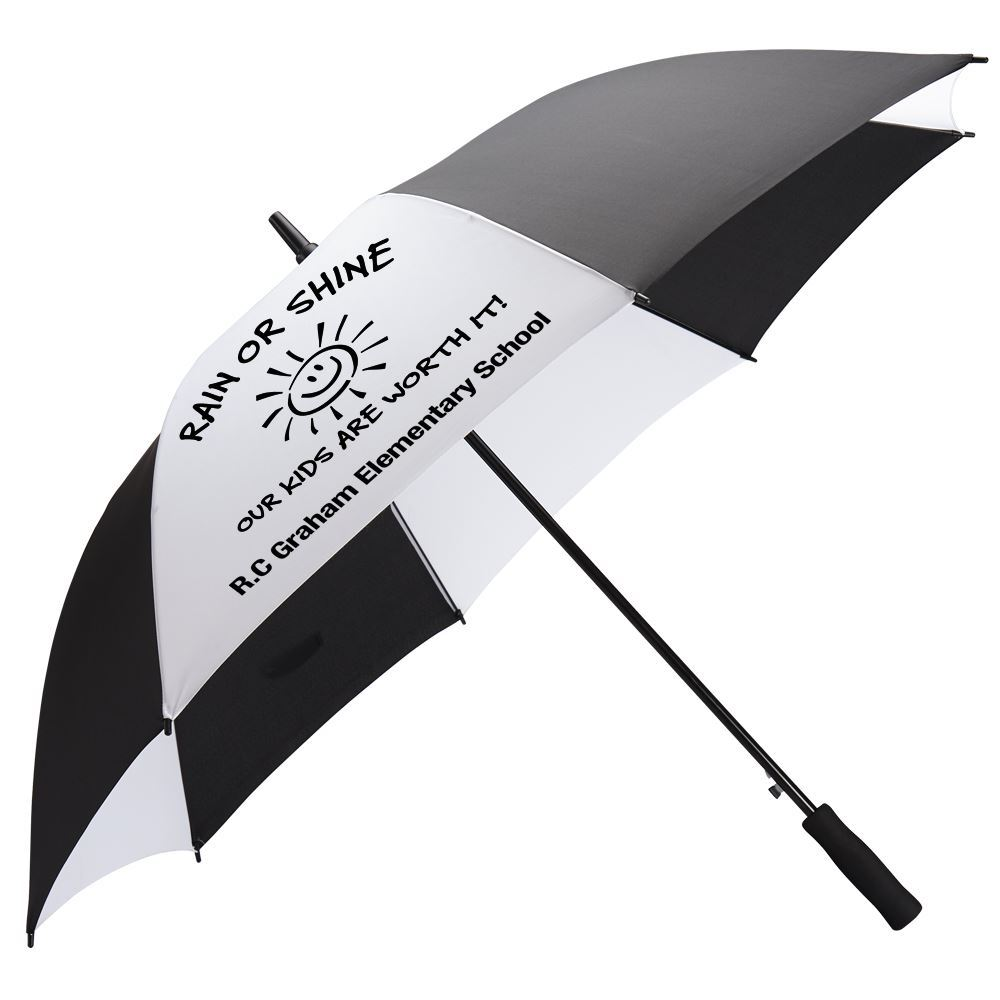 Black/White Deluxe Auto Open Windproof 60