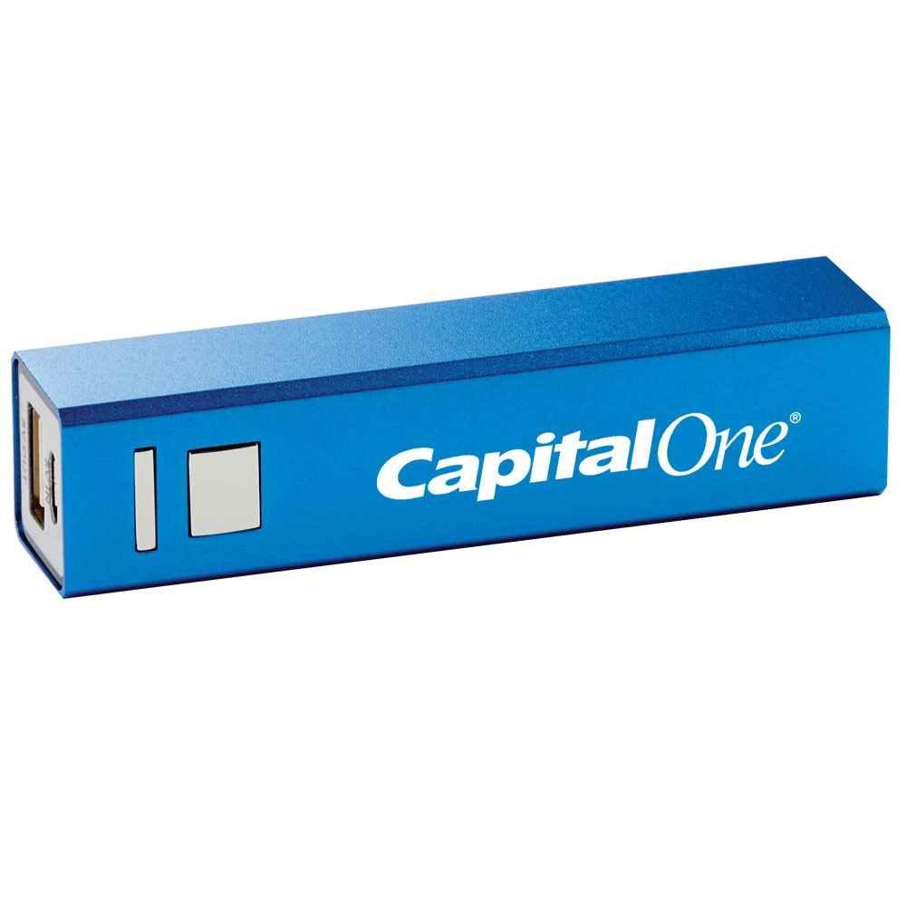 Blue 1800 mAh UL® Metal Power Bank  - Personalization Available
